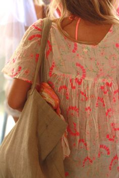 Beach cover-up made from free people bags.