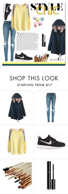 """""""Beautifulhalo 30"""" by mini-kitty ❤ liked on Polyvore featuring NIKE, Balmain, Chanel, women's clothing, women's fashion, women, female, woman, misses and juniors"""