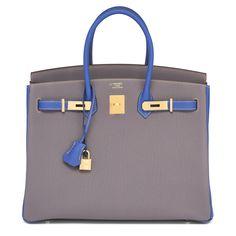 #Hermes #Birkin #Bag HSS Etain Blue Electric Gold Hardware