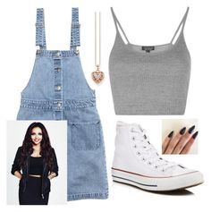 """""""Jesy as Monica from friends"""" by danifashionblog on Polyvore featuring H&M, Topshop, Converse and Thomas Sabo"""