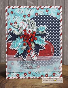 "Featuring ""Berry Sweet Holiday"" by Power Poppy. Card by Allison Cope."