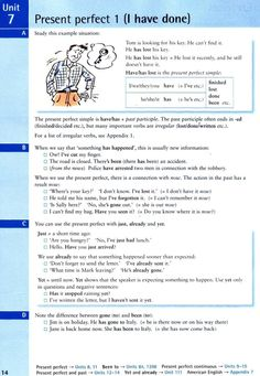 Present perfect 1 (I have done)