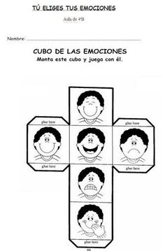 Emociones Teaching Emotions, Feelings Activities, Feelings And Emotions, Craft Activities For Kids, Spanish Classroom, Teaching Spanish, Teaching English, Coping Skills, Social Skills