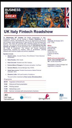 RT IlCommPorro: UK Italy #startup #fintech roadshow at UKinItaly with FacilityLive #digitalsinglemarket  DigitalA…