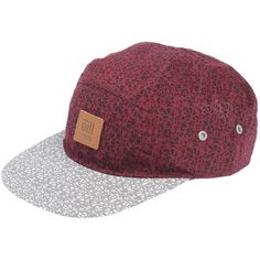 Ōill Hat ($22) ❤ liked on Polyvore featuring accessories, hats, maroon, logo hats, print hats, sun visor hat, logo baseball caps and maroon hat