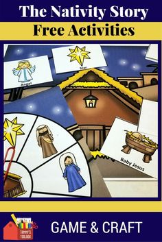 This engaging build a Nativity game is perfect for Christmas fun. Play it to review and retell the story of Jesus birth. Turn it into a craft by using the black and white version as a color and paste activity after playing the game for double fun. Create craft stick puppets for retelling and extend the game into a writing activity for older students. Download it at Tammy's Toolbox. #Christmasactivity, #nativity, #nativitycraft, #tpt,