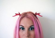 Glittery Red Antlers by SteamWolf on Etsy, $16.00
