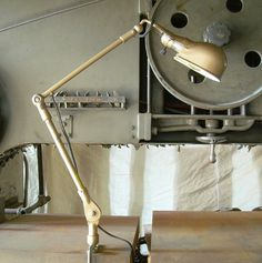 Vintage Industrial Articulated Task Lamp by TheArtifactoryStudio, $185.00