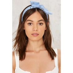 Baby Blues Bandana Headband (£11) ❤ liked on Polyvore featuring accessories, hair accessories, blue, bandana headband, blue handkerchief, head wrap headband, baby blue bandana and hair bands accessories