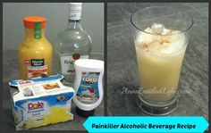 Painkiller Alcoholic Beverage Recipe - http://www.annsentitledlife.com/wine-and-liquor/painkiller-alcoholic-beverage-recipe/