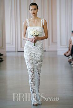 Brides.com: Spring 2016 Wedding Dress Trends Strapless dress with sweetheart neckline and keyhole detail, J.MendelPhoto: Alessandro Garofalo / Indigitalimages.com