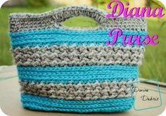 Diana Crochet Purse Free Pattern by Divine Debris Crochet Purse Patterns, Crochet Tote, Crochet Handbags, Crochet Purses, Knitting Patterns, Crochet Shell Stitch, Bead Crochet, Cute Crochet, Crochet Hooks
