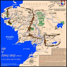 Very detailled Map of Middle Earth