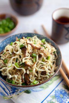 Shiitake and Scallion Ramen by kitchenserendipity #Pasta #Ramen #Shiitake #Easy