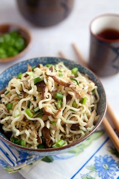 Shiitake and Scallion Ramen by kitchenserendipity #Pasta #Ramen #Shiitake #Easy
