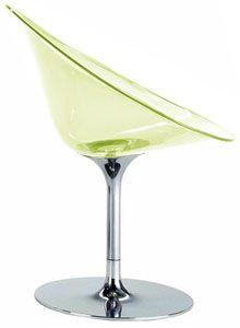 <3 philippe starck, kartell eros swivel chair, transparent light green <3 <3 <3