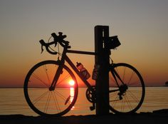 bikes, sunsets and ocean waves