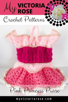 My Victoria Rose Disney Crochet Patterns, Crochet Purse Patterns, Granny Square Crochet Pattern, Crochet Purses, Crochet Designs, Crochet Bags, Crochet Gloves Pattern, Crochet Baby Hats, Knitting For Kids