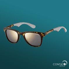 8c6e91471c403 Contato Óptica - Carrera 6000 858JO - óculos de sol lente espelhado  tartaruga quadrado
