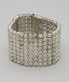 Take a look at this Crystal Silver Stretch Cuff by Marlyn Schiff on #zulily today!