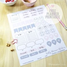 Kitty-planner-stickers - Free printable download of planner stickers for your personal use.