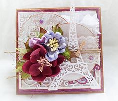 From our Design Team! Card by Anna Karpińska featuring these Dies - Scroll Corner Die , Scroll Bracket Die , Open Leaf Flourish Die  , Berry Flourish , Eiffel Tower Die , Stitched Nested Circles (set of 7) Die  :-) Shop for our products here - shop.lalalandcrafts.com  More Design Team inspiration here - http://lalalandcrafts.blogspot.ie/2015/09/wednesday-inspiration-decorate-corners.html