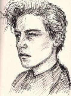 Картинки по запросу how to draw cole sprouse