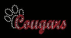 cougars paw school sports Rhinestone by FashionMommyBoutique, $14.00