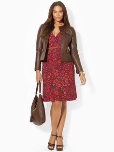 39a7274ff1de8 This stylish jacket is crafted from ultrasmooth leather and features a  contemporary rounded neckline and a. Leather Jackets OnlinePlus Size ...