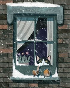campaign illustration Italian Illustrator Shows The True Colors Of Cats That Prove How Adorable They Can Be Pics) Winter Illustration, Children's Book Illustration, Illustration Mignonne, Art Fantaisiste, Illustrator, Winter Art, Italian Artist, Whimsical Art, Belle Photo
