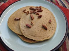 vegan pumpkin pancakes, oil free