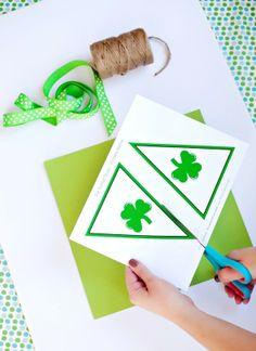 Printable Banner for St. Patrick's Day, DIY St. Patrick's Day bunting ideas, St. Patrick's Day Crafts ideas  #2014 #st #patricks #craft  #ideas #decor www.loveitsomuch.com