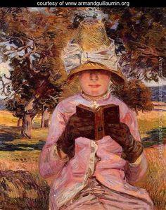 Madame Guillaumin Reading - Armand Guillaumin - www.armandguillaumin.org