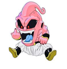 manji boo (dragon ball Z) Anime Chibi, Art Anime, Majin Boo Kid, Fan Art, Buu Dbz, Badass Drawings, Graffiti Drawing, Cartoon Tattoos, Chibi Characters