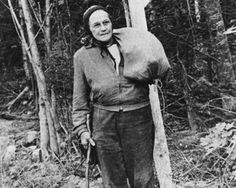 Grandma Gatewood. Famous AT Hikerette. Hiked The AT @ 67.  She said it took more head than heel. Mostly ate peanuts & raisins.