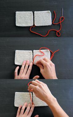 Knitting finishing techniques