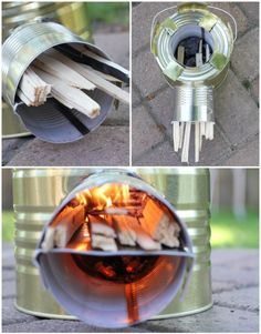 Build a Rocket Stove- One of the best and most efficient ways to cook in an emergency! Already have half the supplies. Diy Rocket Stove, Build A Rocket, Rocket Stoves, Survival Food, Camping Survival, Survival Kit, Survival Skills, Survival Shelter, Backpacking Gear