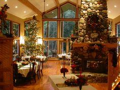 Arlington's River Rock Inn, ready for the holidays.