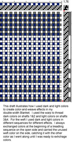 Draft 2 for Woolen Blanket (showing color-and-weave effects)