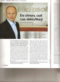 Wywiad o cloud computingu dla Microsoft Polska - rozmowa z szefem  polskiego oddziału (miesięcznik Kaleidoscope).