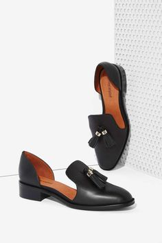 Jeffrey+Campbell+Open+Case+Leather+Flat+-+Black+|+Shop+Shoes+at+Nasty+Gal!