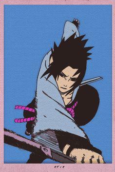 Sasuke Uchiha by odioart - Wallpaper Naruto Shippuden, Naruto Shippuden Sasuke, Naruto Wallpaper, Anime Naruto, Anime Guys, Boruto, Kakashi Art, Manga Art, Manga Anime
