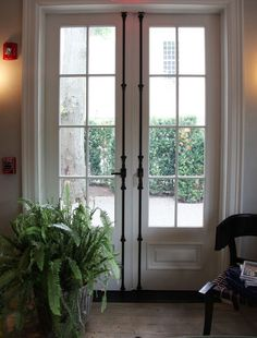 French Doors with brass locks More