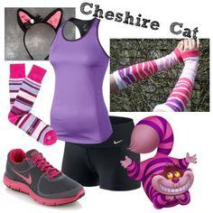 My Cheshire Cat running costume.