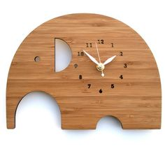 Modern Elephant Wall Clock for Baby Nursery