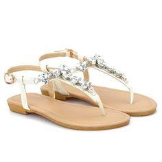 dd444c8576c Sweet Rhinestones and Flip Flops Design Sandals For Women - WHITE 38  Women s Sandals