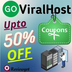 Get up to 50% off #GoViralHost Coupon Code..! And every new user deals GoViralHost hosting, domain registration maximum discount to use on coupon & promo for special... Link Web, Site Hosting, Hosting Company, Creating A Blog, Discount Coupons, Coupon Deals, Best Web, Business Website, Shopping Sites