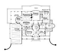 The floor layout maps out the terrace –accessible from the sitting room, the master bath, and his-and-her closets. http://www.theplancollection.com/house-plans/home-plan-14318 (Plan #106-1185)