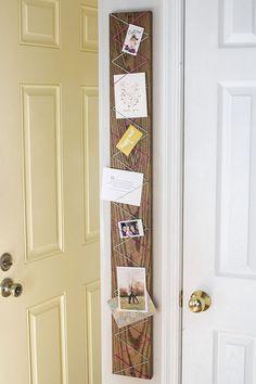 DIY: yarn and wood display