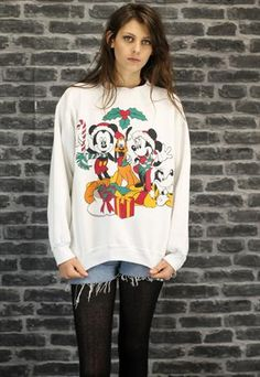 Womens Unisex Vintage Christmas Sweater A961